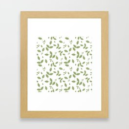 Green Leaves Pattern Framed Art Print