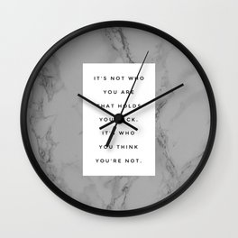 MARBLE QUOTE Wall Clock