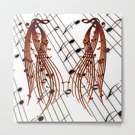 Music Flows Metal Print