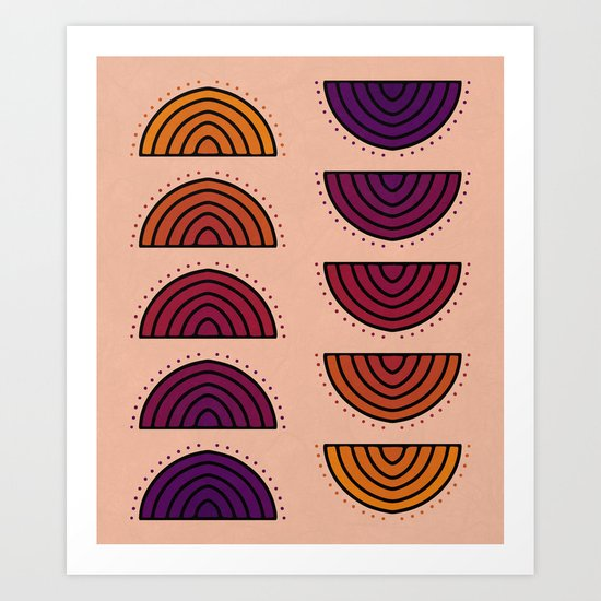 Flowers of Sunset Art Print
