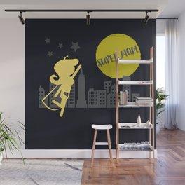 SUPER MOM Wall Mural
