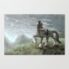 Centaur Mother and Foal Canvas Print