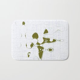 Golden random shape shines on the white background with blue messy lines abstract design Bath Mat