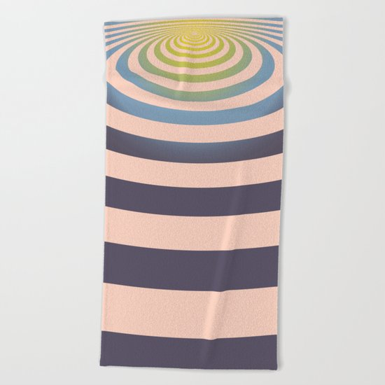 Circle around asymmetrically - Optical game Beach Towel