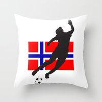 norway Throw Pillows featuring Norway - WWC by Alrkeaton