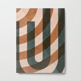 ABSTRACT ALPHABET / Decorative J Metal Print