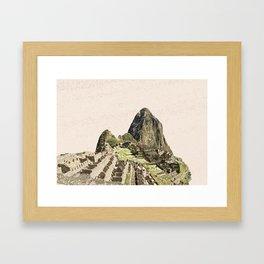 ArtWork Painting Machu Picchu Peru Paint Art Print Framed Art Print