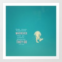 oscar wilde Art Prints featuring Quote By Oscar Wilde by Jenny Ardell