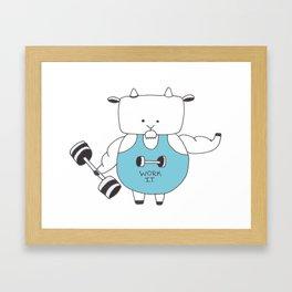 Fitness Goat - Greatest Of All Time Framed Art Print