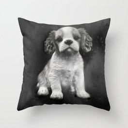 King Charles Spaniel puppy Throw Pillow