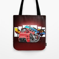 honda Tote Bags featuring Honda fit by Xr1s