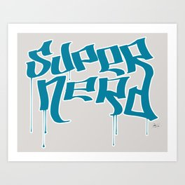 Super Nerd Art Print