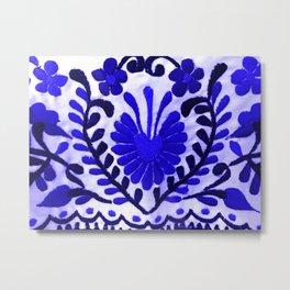 Strange Love Blue Metal Print
