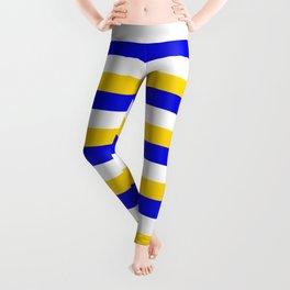 Bosnia Herzegovina Uruguay flag stripes Leggings