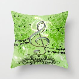 Decorative Clef Throw Pillow