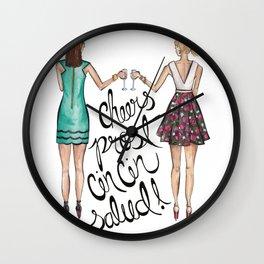 Cheers, Prost, Cin Cin, Salud!  Wall Clock