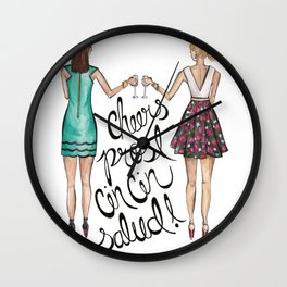Cheers, Prost, Cin Cin, Salud!  Wall Clock