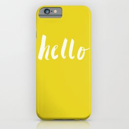 Hello x Sunshine Script iPhone Case