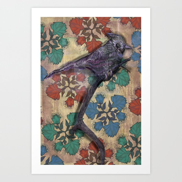 Weird bird Art Print