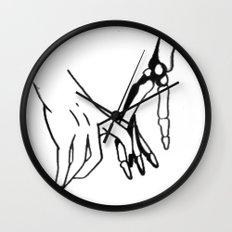HOLDING HANDS Wall Clock