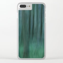Painted Trees 2 Aqua Clear iPhone Case