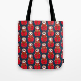 Russian Doll Pattern Tote Bag