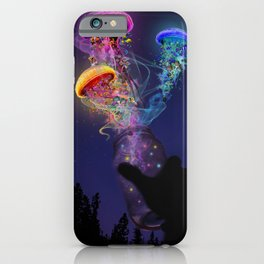 Electric Jellyfish World Released iPhone Case