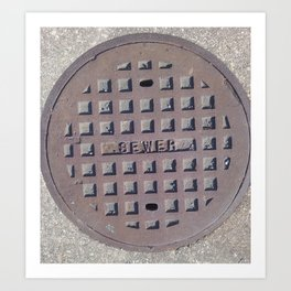 The Sewer  Art Print