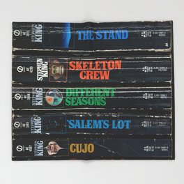 Stephen King Well-Worn Paperbacks Throw Blanket