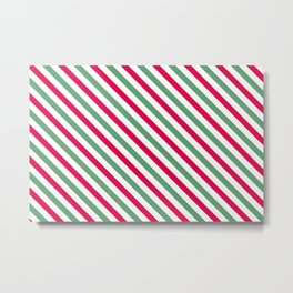 Holiday Stripes Metal Print