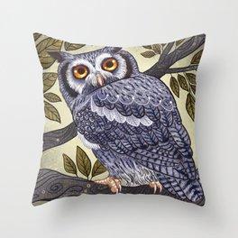White Faced Owl Throw Pillow