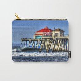 Empty Wave Southside Huntington Beach Pier Carry-All Pouch