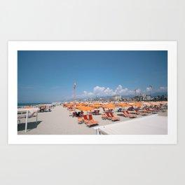 ITALIAN BEACH  - Via Reggio. Art Print