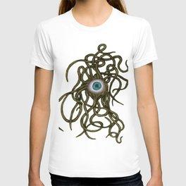 Evil Eye Halloween Creature Vector Gold T-shirt