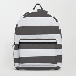 Uneven Grey White Stripe Pattern (Please Read Description) Backpack