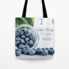 Wild Bluebeeries in Glass for kitchen Tote Bag