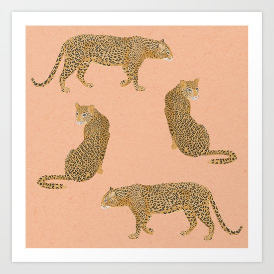 sunset leopards by lauragraves