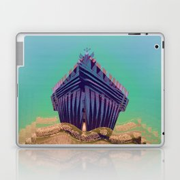 Surfing The Big Wave Searching Mermaids Laptop & iPad Skin