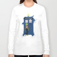 kermit Long Sleeve T-shirts featuring Doctor Who Kermit by Roe Mesquita