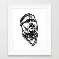 pun Framed Art Prints featuring Big Pun by sketchnkustom