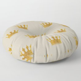 George Grey with Gold Crowns Floor Pillow