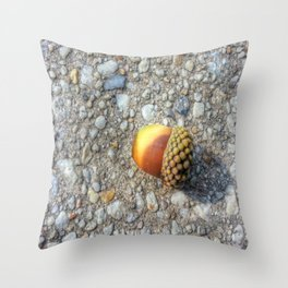 Little Acorn in the City Throw Pillow