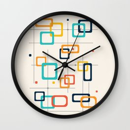 Mid Century Retro Pop Art 016 Wall Clock