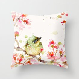 Mr Fluffy Pants (bird) Throw Pillow