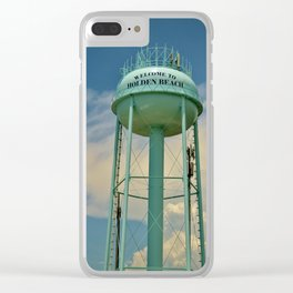 Tower And Clouds Clear iPhone Case