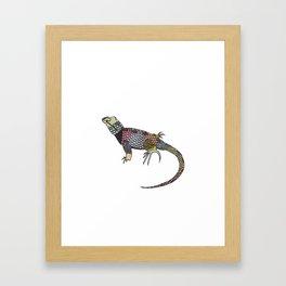 Rainbow Lizard Framed Art Print