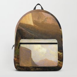 A View Up Yosemite Valley 1871 By Thomas Hill | Reproduction Backpack