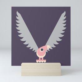 Letter V // Animal Alphabet // Vulture Monogram Mini Art Print