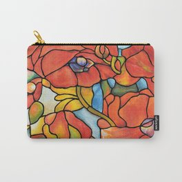 Red Poppy Lamp Carry-All Pouch