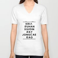 """exo V-neck T-shirts featuring EXO M- Hangeul: """"Love City"""" Inspired by 00yu"""